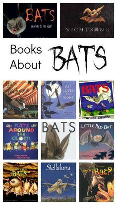 Kids' Books About Bats. Fiction and nonfiction books about bats for kids. #preschool #kindergarten #booklist