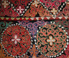 Beautiful Large Mongolian Kazakh UZBEK Suzani Embroidery Yurt Wall Hanging No 13 | eBay