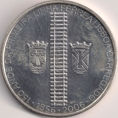 Motivseite: Münze-Europa-Südeuropa-Portugal-Euro-8.00-2006-Linha férrea