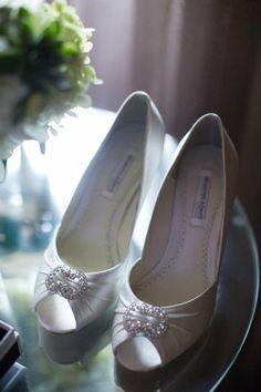 Peep-Toe Satin Pumps I  Jack Looney Photography I #shoes #bridal