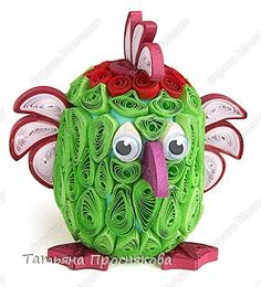 this makes me laugh - Toy, Master Class Kvilling: And the green parrot ...  in engineering kvillinga paper Kinder Surprise