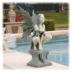 Winged 17 Inch Celtic Fairy Ready for Flight Decorative Sculpture