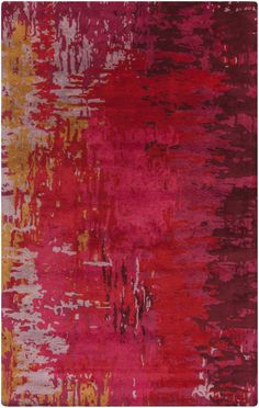Buy the Surya Red Direct. Shop for the Surya Red Banshee x Rectangle Wool Hand Tufted Contemporary Area Rug and save. Contemporary Area Rugs, Modern Rugs, Clearance Rugs, Hand Tufted Rugs, Wool Area Rugs, Wool Rugs, Throw Rugs, Interiores Design, Bright Pink