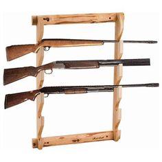 Build gun racks to organize the hunting room.