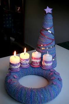 Made by NőiCsizma Door Wreaths, Tea Lights, Birthday Candles, Advent, Creative, Party, Christmas, Decorations, Tips