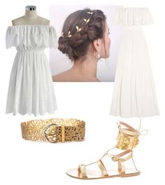 greek goddess by jazzy-wazy on Polyvore featuring polyvore fashion style Chicwish Temperley London Ancient Greek Sandals clothing