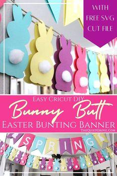 Easter Bunting Banner svg Easter garland svg Easter kids crafting project Easter wall decoration