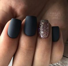 50 Best Stunning 💖 Glitter Nails Inspirational Design (Acrylic Nails, Matte N. - 50 Best Stunning 💖 Glitter Nails Inspirational Design (Acrylic Nails, Matte Nails) for Prom and - Black Nail Designs, Colorful Nail Designs, Matte Nail Designs, Acrylic Nails Natural, Matte Black Nails, Matte Gel Nails, Stiletto Nails, Glitter Manicure, Trendy Nails