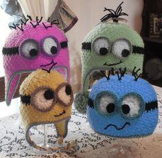 Ravelry: Googly Eye Hat pattern by Marcia Peterson Minion Crochet, Crochet Kids Hats, Crochet Beanie Hat, Love Crochet, Crochet Crafts, Yarn Crafts, Crochet Projects, Crocheted Hats, Minion Pattern