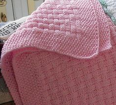 Basketweave Baby Blanket This knitting pattern is available from Ravelry. Knitted Baby Blankets, Baby Blanket Crochet, Crochet Baby, Knit Crochet, Baby Knitting Patterns, Baby Patterns, Knitted Afghans Patterns Free, How To Purl Knit, Knit Purl