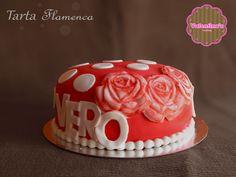 """Tarta personalizada """"Flamenca"""" #tarta #cake # fondant #rosas #flamenca #flamenco #postre"""