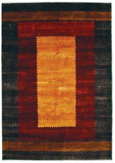UNIQUE USA offers the Kashkuli Gabbeh rug, a striking rectangle-within-a-rectangle design.