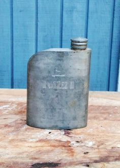 Vintage Pewter Flask - Antique Flask - Barware by theindustrycottage on Etsy
