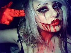 Joker makeup? yes I looooveeee this one! So cool with the bloodiness.