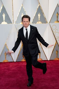 Michael J. Fox arrives at The 89th Oscars®. #4ChionStyle #MichaelJFox #redcarpet #oscars #actor