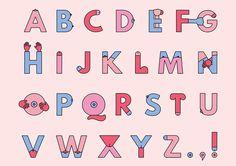 Grope Sans Bompas and Parr Typography Letters, Typography Logo, Typography Design, Hand Lettering, Alphabet Images, Alphabet Design, Installation Interactive, Bompas And Parr, Inspiration Typographie