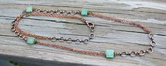Antiqued Copper Alternating Chain Rope Necklace by Eleven11designs, $35.00