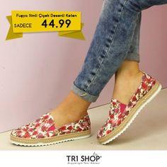 KAMPANYA TR1Shop.com'da Bayan Fuşya Simli Çiçek Desenli Keten Ayakkabılar'da İndirim Rüzgarı Esiyor. Bayan Fuşya Simli Çiçek Desenli Keten Ayakkabı KDV Dahil Sadece 44.99 TL'ye sahip olabilirsiniz. Son fırsatlar kaçırmayın. Detaylı bilgi: http://goo.gl/z1icGY