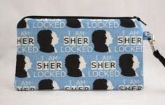 Sherlock I am Sherlocked Wristlet Wallet Bag by RedShirtCreations #sherlock