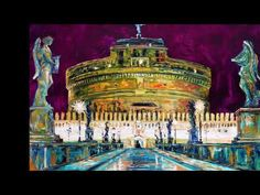 Cityscapes of Rome. Palette knife paintings in oil on canvas. Impressionism, Contemporary Impressionism, Fine Art, Cityscape, Canvas, Painting, Art