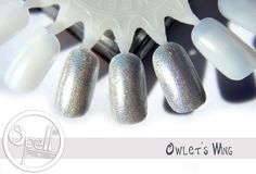 Touch of opalescent glitter more holographic silver silver pearl