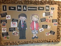 LDS primary bulletin board missionary