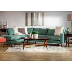 Add this Leo Sectional in Vibe Coastal to your home and it will define your space with it's transitional feel, quality construction, and unique uph Sectional, Nebraska Furniture Mart, Home, Furnishings, Home Good, Furniture, Home Accessories, Interior, Home Furnishings