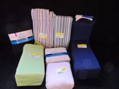 SHEETS AND PILLOW CASES. MIXED LOT. 7 IN LOT. NEW