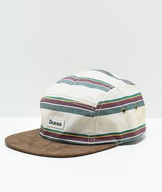 Add tonal colors to your casual style with the Yosemite 5 panel hat from Dravus. This dad hat features a flat, faux suede bill, khaki panels with stripe details throughout and is finished with a faux leather strapback sizing piece for a custom fit. Five Panel Hat, Hats For Men, Hat Men, Strapback Hats, Mens Attire, Nike Air Force Ones, Poker Online, Cool Hats, Dad Hats