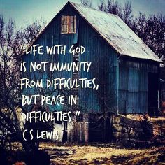"""CS Lewis: """"Life with God is not immunity from difficulties, but peace in difficulties."""" """"The world does not need more Christian literature. What it needs is more Christians, writing good literature. Quotable Quotes, Faith Quotes, Quote Life, Quotes About Peace, Farm Life Quotes, Forgiveness Quotes, Lds Quotes, Teen Quotes, Lyric Quotes"""