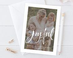 Card, Album, Senior, Newborn Photography Templates by hazyskiesdesigns Christmas Card Template, Christmas Cards, Photography Templates, Card Templates, Newborn Photography, Etsy Seller, Joy, Album, Creative