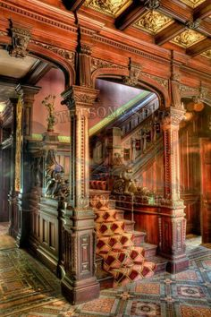 Shakespeare Chateau - StetsonAndSpursPhotograph - Architecture - Scott Cunningham is an internationally published photographer and active duty US Army soldier curre - Victorian Interiors, Victorian Decor, Victorian Architecture, Beautiful Architecture, Victorian Homes, Country Interiors, Victorian Furniture, Classical Architecture, House Architecture