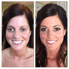 Before and after of bride, Elizabeth