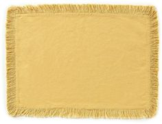 Noble Excellence Saga Fringed Cotton Placemat