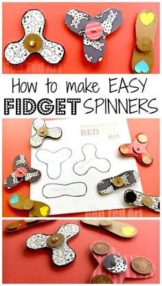 Easy Fidget Spinner DIY (Free Template) - here is a great how to make Fidget Spinners without bearings DIY. The use super basic materials and are easy to make. It includes a Free Fidget Spinner Template (3 designs) and would be great Science Fair project idea (exploring property of materials, centrifugal forces and friction). Making this a fabulous STEAM project for kids, which is Cheap, Easy and Fun. Come make a simple Fidget Spinner DIY project with us today! #fidgetspinner #templaters…