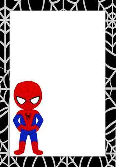 Printable Frames, Free Printable Invitations, Printable Cards, Free Printables, Spiderman Birthday Invitations, Birthday Party Invitations, Birthday Cards, Birthday Frames, Birthday Photos