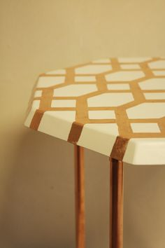side table, copper