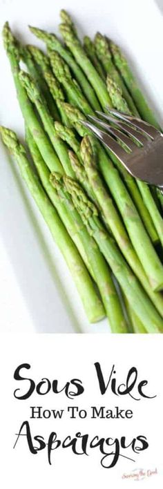 How To Cook Asparagus Perfectly Cooked Sous Vide Asparagus, Sous Vide Asparagus Cook Like Chuck, Sous Vide Chicken and Asparagus with Brow. Dinner Recipes Easy Quick, Delicious Dinner Recipes, Easy Weeknight Meals, Quick Easy Meals, Great Recipes, Yummy Recipes, Favorite Recipes, Sous Vide Asparagus, How To Cook Asparagus