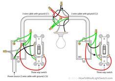 3way switch diagram (power into light) 3 way switch