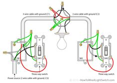 Power at Light 2-way Switch Wiring Diagram | Rafmagn | Pinterest ...