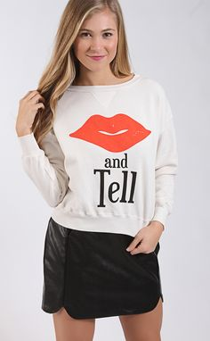 wildfox: sloan sweater - kiss and tell