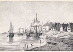 Daenemark-Danmark-Fanoe-Soenderho-Gemaelde-Schiffe-Strand