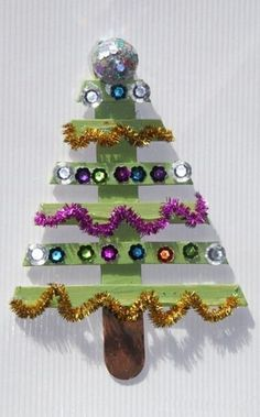 Christmas Tree Popsicle Stick Craft, Popsicle Stick Ornaments in 2013 Christmas