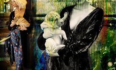 Silk Velvet Coat and Embroidery Silk Trouser by Marta Fernandez