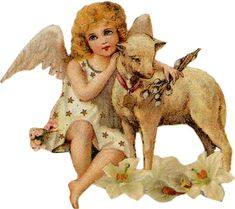Zibi Vintage Scrap: The Messenger of Easter Clip Art Vintage, Vintage Ephemera, Vintage Images, Country Christmas Crafts, Miniature Christmas, Victorian Angels, Victorian Christmas, Bottle Cap Art, Angel Art