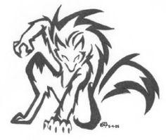 werewolf by Iciclefobbit on DeviantArt Tribal Tattoos, Tribal Wolf Tattoo, Tribal Tattoo Designs, Wolf Tattoos, Body Art Tattoos, Celtic Tattoos, Sleeve Tattoos, Lobo Tribal, Arte Tribal