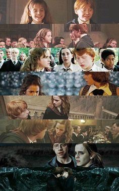 Ron and Hermione through the years. This broke my heart.