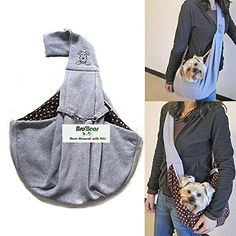 i'Pet® Hands-free Reversible Small Dog Cat Sling Carrier Bag Travel Tote Soft Comfortable Puppy Kitty Rabbit Double-sided Pouch Shoulder Carry Tote Handbag (Grey) Bro'Bear http://www.amazon.com/dp/B00U1F6TJU/ref=cm_sw_r_pi_dp_UTo2vb0JZ0YCY