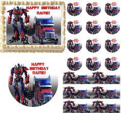 Transformers OPTIMUS PRIME Optimus Truck Edible Cake Topper Image Frosting Sheet #ProfessionalBakeryQuality