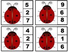Numbers Preschool, Preschool Math, Kindergarten Worksheets, Math Games, Preschool Activities, Festa Lady Bag, Diy Straw, Montessori Math, Alphabet Cards